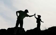 father & son (H e r m e s) Tags: light boy sky turkey interesting dad father son istanbul burgazada