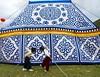 Tent (hazy jenius) Tags: china girls two horse festival tent yurt