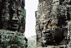 beauty of bayon* 14 (* tathei *) Tags: asia travel cambodia siem reap city angkor thom bayon temple worldheritage architecture nikon f3 slr nikkor 85mm film kodak portra 160vc iso160