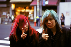 TOKYO - Rock ' n ' Roll (BoazImages) Tags: blue red portrait music hot men topv111 rock japan metal tokyo colorful asia band blond rockroll redhot