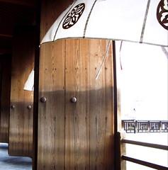 Yakushiji Temple (elise hori) Tags: door wood japan nara breeze yakushiji