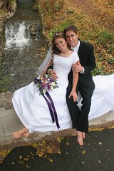 A wedding in the fall