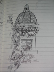 View of Church from My Room Sketch