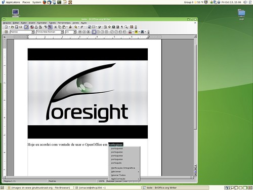 BrOffice running on Foresight Linux