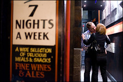 7 nights a week - Cardiff, UK (Maciej Dakowicz) Tags: uk party people love girl wales night drunk kiss kissing couple drink homeless cardiff young drinking social beggar problem welsh atm cashpoint stmarystreet maciejdakowicz