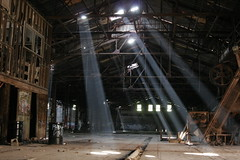God Rays (radio13) Tags: light abandoned brickworks beams godrays