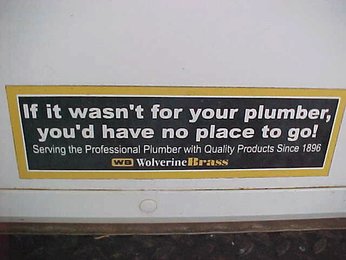 Plumbers Sign On Truck