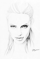 Angelina Jolie (ladyLara ( Laura Blc )) Tags: portrait people bw laura celebrity art lines pencil sketch blackwhite artwork handmade drawing drawings line angelinajolie romania myart actor angelina jolie portret cluj arta myway angi desen creion schita ladylara laurabalc laurablc blc celebritydrawings