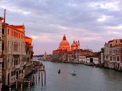 Venice (CaZen) Tags: travel venice sunset sky italy clouds cityscape churches naturallight ponte chiesa italians worldheritagesites perfectsunsetssunrisesandskys