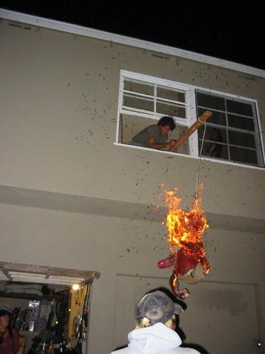 flaming pinata