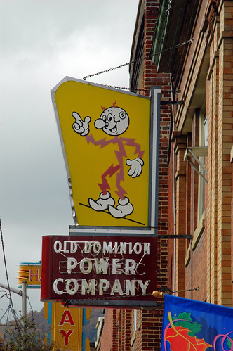 Reddy Kilowatt Sign by Radio Rover