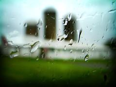 rain on the plain (solecism) Tags: window rain barn bokeh pennsylvania farm fakelomo fauxlomo