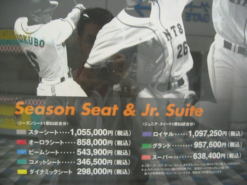 Tokyo Dome - Price