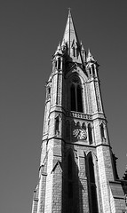 9 - Cork (M R Fletcher) Tags: county ireland bw tower clock monochrome bells river blackwhite october cathedral time cork eire ring spire lee queenstown peel cobh carillon ec freestate riverlee markfletcher stcolmans republicofireland utatathursdaywalk28
