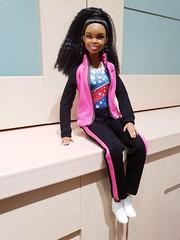 Hello Gabby (Jamarem) Tags: doll barbie gabby douglas gymnast usa toy tabletop stilllife april 2018 fgc34 madetomove