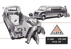 1958-60 Lloyd trucks (Hugo-90) Tags: 1958 1959 1960 lloyd lt600 pickup van borgward ads advertising brochure folder