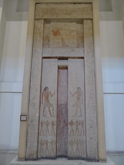 False Door from Tomb (Aidan McRae Thomson) Tags: cairo museum egypt ancient egyptian relief