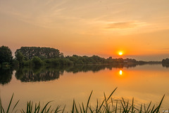 Sunrise in the Summer (Martine Lambrechts) Tags: sunrise summer landscape nature water tree morning