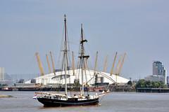 Tall Ship (John A King) Tags: wyldeswan tall ship thames greenwich dome