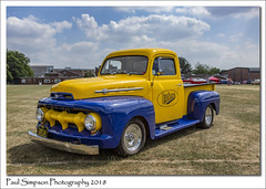 1952 Ford Pick-up (Paul Simpson Photography) Tags: doncaster american car classiccar pickup ford truck carshow sonya77 summer 2018 sunshine 1952 imagesof imageof photoof photosof transport grass field heatwave sunnyweather bluesky paulsimpsonphotography