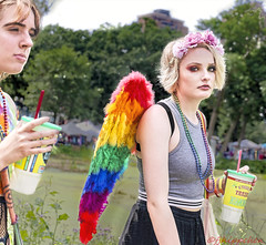 MALOCCHIO (panache2620) Tags: angel evileye colorful woman girl pride lgbtq minneapolis minnesota eos canon street photodocumentary socialdocumentary