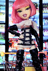 Fierce Awakening Cycle 2 - Avant-Garde Grocery Store: Daisy Lee (alexbabs1) Tags: bratz dolls doll daisy lee bntm fierce awakening top model pink hair bob wig moxie teenz grocery store fashion style groceries food frozen freezer asian avant garde high haute couture glam sexy cool hot hehe yes gawd maam sarah palins bangs