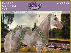E-RH-FloralGarlands-Herbal (honeyheart1) Tags: sl secondlife eliteequestrian horse realhorse garland floral flower wedding