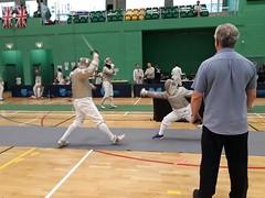 Sabre parry (Cornishmaple) Tags: foil epee sabre fencing fechten escrime competition fencingsalle parry