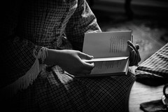 Fort Delaware (Jen MacNeill) Tags: fort delaware civilwar era history historic site american us usa blackandwhite bnw hands reading book read books