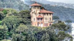 Villa in Punta Caieca, Portofino (Raúl Alejandro Rodríguez) Tags: bosque forest wood torre tower villa árboles trees portofino liguria ligury italia italy