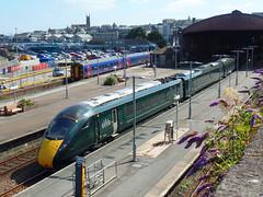 158763 & 802001 Penzance (Marky7890) Tags: 802001 class802 5z52 gwr 158763 class158 expresssprinter 2c47 penzance railway cornwall cornishmainline train