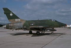F-100D Super Sabre 55-2845 of the 174th TFS/185th TFG Iowa ANG (JimLeslie33) Tags: f100 f100d fighter usaf ang iowa sioux city angb nas miramar aviation 185th tfg 174th tfs bats olympus om1