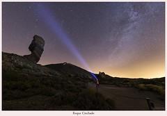 Roque Cinchado (yoni103) Tags: canon6d canarias canon cielosnocturnos circumpolar sigma sigma14mm teide tenerife roquecinchado paisajes nocturnas naturaleza nubes