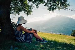 ... (kyopé) Tags: femme jeunnefille fille nature bastille grenoble argentique analog 35mm kodak nikonl35af montagne
