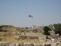 Jordanian Flag Over Amman (david_e_waldron) Tags: jordan amman