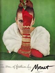 Monet 1959 (barbiescanner) Tags: vintage retro fashion vintagefashion 50s 50sfashions 50sadvertising 1950sfashions 1950sadvertising 1959 vogue monet jewellery