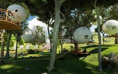 Cocoon Tree Village concept, for #luxury #Glamping http://bit.ly/2lqiElJ (Skywalker Adventure Builders) Tags: high ropes course zipline zipwire construction design klimpark klimbos hochseilgarten waldseilpark skywalker