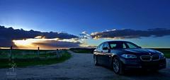 Aberdeenshire Skies (matthewblackwood10) Tags: car landscape sunset dark clouds blue sky skies field road track bow 520d 5 series navy aberdeenshire aberdeen east coast scotland uk summer bmw