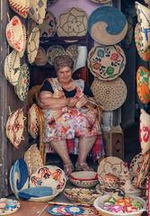 Artisan crafts (stewartl2010) Tags: weaving activity tourism nikfilters castelsardo crafts doriafamily colorefexpro4 italy colourful hilltown baskets artesan sardinia sardegna it