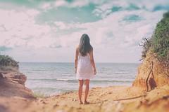 Mina (marcus.greco) Tags: portrait woman sea beach sky vintage colors