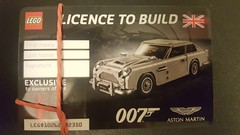 LEGO 10262 Aston Martin (RS 1990) Tags: lego 10262 creator expert 007 jamesbond astonmartin licencetobuild card