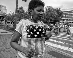 Independence Mall, 2018 (Alan Barr) Tags: philadelphia 2018 independencemall independence independenceday 5thstreet marketstreet street sp streetphotography streetphoto blackandwhite bw blackwhite mono monochrome candid city people olympus omd em1ii