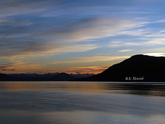 At the end of a day (katrinchen59) Tags: sunset sundown alaska landscape clouds sky beautifulsky mountains coastline ocean sonnenuntergang abendhimmel landschaft landschaftsfotografie wolken horizont abendrot zonsondergang landschap horizon
