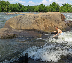 hhrodfive (FAIRFIELDFAMILY) Tags: broad river west columbia sc south carolina water fairfield southern winnsboro jason taylor grant carson michelle white waves splash swimming fun pretty rock rocks kayak kayaking brother brothers child young old outside explore exploring boy bridge playing play