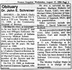 1994 - Dr John Schreiner