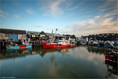 FE63 - BM114 (Kevin HARWIN) Tags: water sea beach harbour boats building long exposure windows sky clouds blue red white canon eos m3 sigma 1020mm lens whitstable bubble kent uk engalnd britain south east