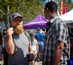One-Way Conversation (LarryJay99 ) Tags: 2018 lakeworthstreetpaintingfestibal urban festivals crowds florida people men male man guy guys dude dudes mangags manly virile studly stud masculine sexyman beard backpacker urbanbackpacker glasses sunglassen friendsofdiversity