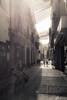 Streets of Sevilla (Benedikt Filip) Tags: monochrom strasenfotografie licht architektur strase personen fahrrad weitwinkel ausen andalusien stadt ausschnitt einfarbig gebäude spanien tag