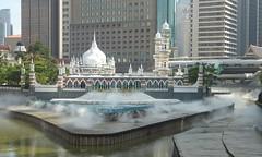 Masjid Mosque (m_artijn) Tags: masjid jamek kuala lumpur mosque mys fountain mist canal