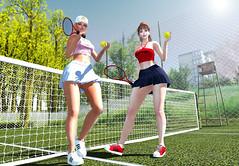 Tennis at Crybaby Princess (kyoka jun) Tags: new event noticemesenpai dirtyprincess crybabyprincess tops skirts sneakers monso vanityhair